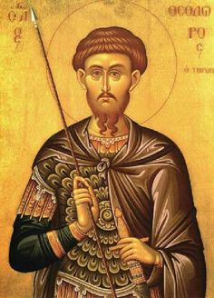 Byzantine Icons - St. Theodore the Recruit and Great Martyr