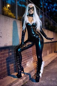 print of my latex Black Cat, meow! Marvel Girls, Comics Girls, Ms Marvel, Steam Punk, Cosplay Latex, Black Cat Cosplay, Black Cat Marvel, Leder Outfits, Marvel Cosplay