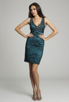 Short Dresses - Beaded Crinkle Dress from Camille La Vie and Group USA