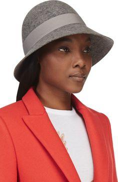 61c3e7f5067 Stella Mccartney Grey Felted Wool Bow Hat in Gray (grey) - Lyst Felted Wool