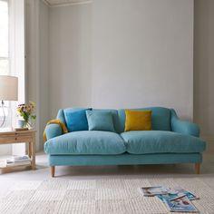 Skittle sofa in Tufted Duck vintage linen