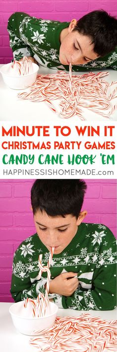 Host the best Christmas party ever with these fun Christmas Minute to Win It games for kids and adults. Fun Christmas party games that are perfect for all ages! #fun_crafts_for_all_ages