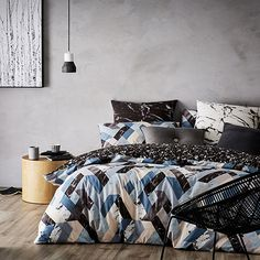 Geode Quilt Cover Set Teal