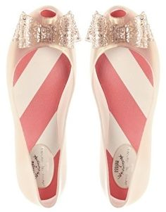 candy stripes + glitter bows Vivienne Westwood.