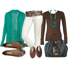 """""""I'm Teal Brownin' Around"""" by mamamer on Polyvore"""