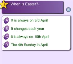 Teach your pupils about Easter with an interactive quiz via Notebook
