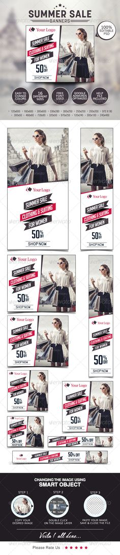 Summer Sale Web Banners Template PSD   Buy and Download: http://graphicriver.net/item/summer-sale-banners/7678855?WT.ac=category_thumb&WT.z_author=doto&ref=ksioks