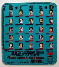 Bingo card portraits. how cool.
