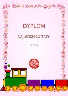 Dzień Taty: Dyplomy i Certyfikaty do druku 6 Logo Design, Graphic Design, Techno, Diy And Crafts, Daddy, Logos, Children, Young Children, Boys