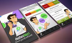 AsthmAlert, U.S.  |  iPhone app UI design