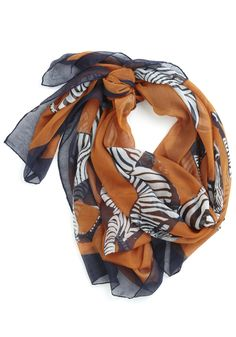 I love scarves. I have approximately 25. I credit myself with bringing them back into fashion. I think this one is just BEAUTIFUL.