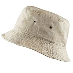 fd4bae6744 THE HAT DEPOT 300N Unisex 100% Cotton Packable Summer Travel Bucket Hat at  Amazon Men's Clothing store: