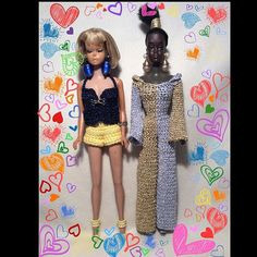 My vintage barbie collection  outfits crochet by me #barbie #vintage #crochetoutfit #handmade #collectables #haken #accessories