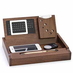 Wooden Multifunctional Office Supplies Desktop Storage Tray Stationery Storage Box