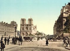 Notre Dame, and St. Michael bridge, Paris, France, ca. 1890-1900 - Quai Saint-Michel — Wikipédia