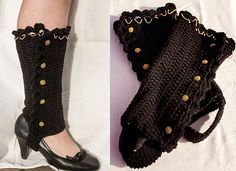 Finally, a pair of stylish legwarmers to go with your high heels. You will need your yarn and an I crochet hook, or any hook that matches the gauge. If you enjoyed this free crochet pattern you might also enjoy more designs by MNE Crafts. Crochet Leg Warmers, Crochet Boot Cuffs, Crochet Boots, Crochet Gloves, Crochet Slippers, Knit Crochet, Free Crochet, Crochet Granny, Boots And Leggings