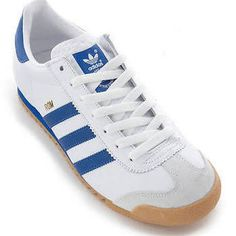 Adidas Originals Rom Footwear - White Blue Classic Trainer 665950 � Sports  EquipmentAmazon DealsAdidas OriginalsTrainersFootwearMen ...