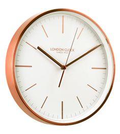London Clock 1922 - Titanium - Artemis - Brushed Copper Finish Wall Clock: Amazon.co.uk: Kitchen & Home | £35