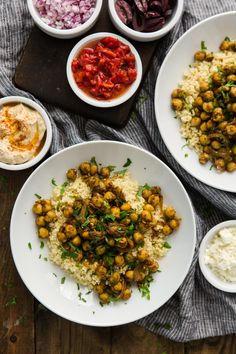 Chickpea Shawarma Recipe made with millet and topped with feta, roasted red peppers and kalamata olives, Indian Food Recipes, Vegetarian Recipes, Cooking Recipes, Healthy Recipes, Healthy Meals, Vegetarian Dinners, Happy Healthy, Healthy Dishes, Veggie Dishes