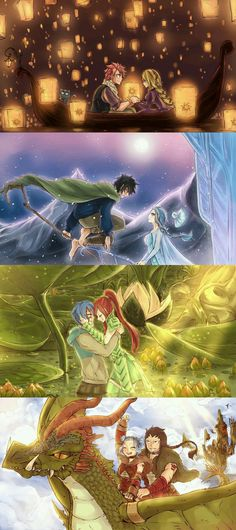 Nalu, Gruvia, Jerza, Gale | mythical | fairy tales | Fairy Tail