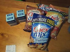 25¢ per two pack of soap. And 40¢ per chex mix