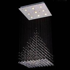 Gallery Modern Crystal 9-Light Chandelier (9 light chandelier), Silver (Chrome)