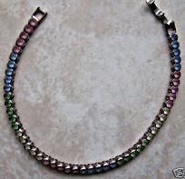 silver multicolor glass monet bracelet free shipping on sale $6.99