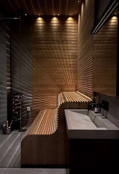 Sauna Steam Room, Sauna Room, Chalet Design, House Design, Sauna Design, Home Spa, Residential Architecture, Bathroom Interior, Modern Design