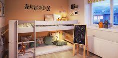 #ethjemfraskanska#petersborgkvartalet#barnerom Bunk Beds, Loft, 3d, Furniture, Home Decor, Modern, Room Decor, Trundle Bunk Beds, Home Interior Design