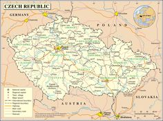 Czech Republic map - Google Search