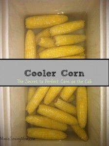 Super easy way to make corn on the cob without heating the house up!