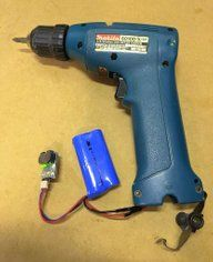 Convert Old Cordless Tools to Lithium Power: 5 Steps (with Pictures) Cordless Drill Batteries, Cordless Power Tools, Power Tool Batteries, Cheap Power Tools, Power Hand Tools, Cool Tools, Battery Tools, Battery Drill, 18650 Battery