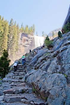 one of the most best places ever yosemite.  Oh and by the way those stairs are really hard, been up them :)