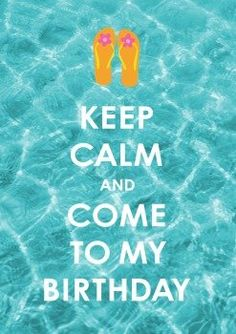 Keep Calm | Im Sommer Geburtstag? Strandparty? Keep it cool!