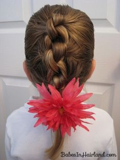 Row of Knots Hairstyle (8) i know it says here its for little girls. but still cute!