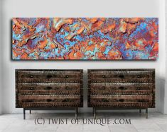 Rusted Metal, Industrial Paintings, Abstract, Map Painting, Urban Industrial, Fantasy Landscape, Etsy, Cabinet, Vintage