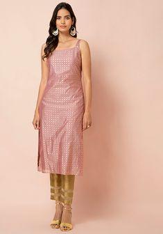 Silk Kurti Designs, Simple Kurta Designs, Kurti Designs Party Wear, Stylish Dress Designs, Casual Indian Fashion, Indian Fashion Dresses, Indian Designer Outfits, Stylish Dresses, Simple Dresses