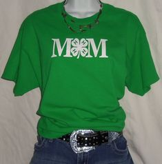 4-H Mom shirt. Stock show shirt. Cute shirts from Blue Jay Vinyl Etsy store.