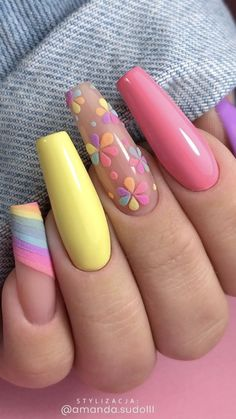 Edgy Nails, Grunge Nails, Funky Nails, Stylish Nails, Swag Nails, Halloween Acrylic Nails, Best Acrylic Nails, Acrylic Spring Nails, Coffin Nails