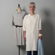 How versatile is The Maker's Atelier new sewing pattern?    The latest sewing pattern from The Maker's Atelier is certainly going to be  popular. The oversized shirt dress can be worn as a dress or overshirt with  your favourite jeans or trousers. Like all TMA patterns, it has a great  selec