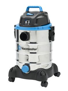 VQ607SFD - The Vacmaster 6 Gallon Stainless Steel wet/dry vac is ultra-lightweight, powerful and portable.