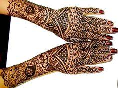 Hennával festett kéz - Henna painted hand
