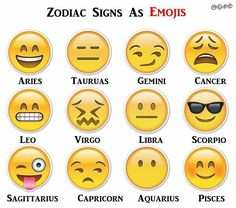 Zodiac Signs Were Emoji . If Zodiac Signs Were Emoji -- pretty funny!If Zodiac Signs Were Emoji -- pretty funny! Zodiac Signs Gemini, Zodiac Memes, Zodiac Star Signs, Zodiac Sign Facts, Zodiac Horoscope, My Zodiac Sign, Zodiac Signs Matches, Sagittarius Scorpio, Zodiac Funny