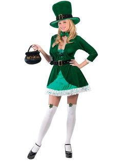 Check out Sexy Luscious Leprechaun Costume - St. Patrick's Day Accessories from Wholesale Halloween Costumes