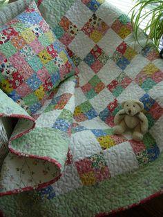 Grandma's Scrapbasket Baby Block Quilt and by WoodenNeedleNook, $158.00