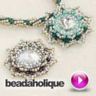 Tutorial - Videos: How to Embellish a Beaded Bezel for the Evening Star Necklace | Beadaholique