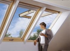 For comfortable operation VELUX top-hung roof windows feature a conveniently placed bottom handle, with operation assisted by powerful yet gentle springs. VELUX top-hung roof windows are perfectly suited to low pitched roofs. Pergola With Roof, Patio Roof, Wooden Pergola, Diy Pergola, Pergola Kits, Pergola Ideas, Shed Roof, House Roof, Skylight