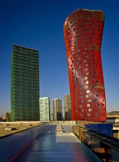 L'Hospitalet (Barcelona) Fira Towers 114 m. by Toyo Ito