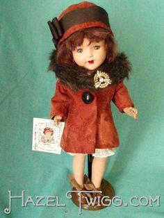 Vintage composition doll Chloe, a Hazel Twigg O.L.D. (Once-Loved Doll).