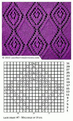 Lace knitting. Free chart 7